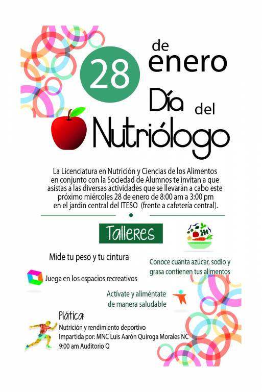Flyer dìa del nutriologo