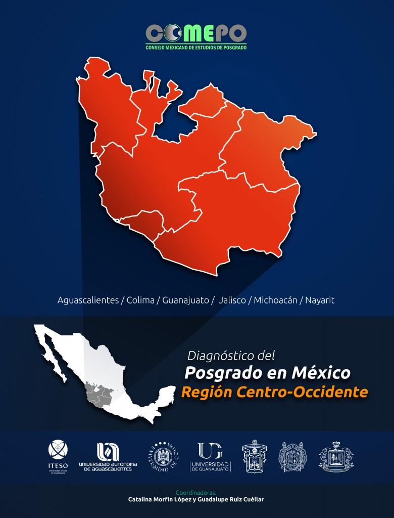Portada del Diagnóstico del posgrado en México. Región Centro-Occidente